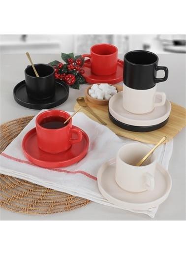 Keramika Noble Mat Çay Takımı 12 Parça 6 Kişilik - 975 Renkli
